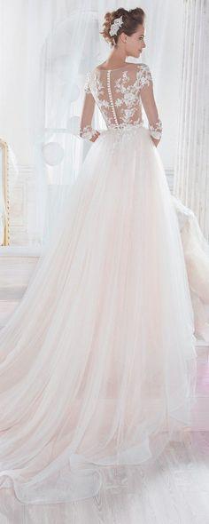 8280250788a91 Nicole Spose Wedding Dresses 2018 You ll Love. ピンクのウェディングドレス ...