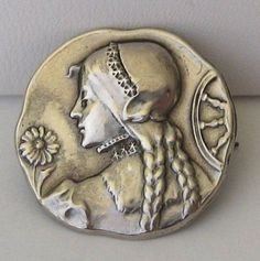 Catherine of Alexandria Pin/Brooch Pearl Brooch, Silver Brooch, Brooch Pin, Victorian Jewelry, Vintage Jewelry, Antique Jewelry, Ancient Jewelry, Catherine Of Alexandria, Renaissance Era