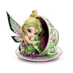 """Jasmine Becket-Griffith """"Tiny Cu-tea"""" Fairy Figurine"""