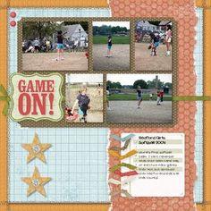 softball scrapbook ideas - Google Search