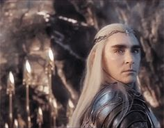 This gif of Thranduil just broke me, I think. #intenseeyebrows