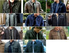 Dean Winchester, man of many slightly varied looks.