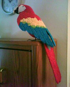 3D origami Macaw by =dfoosdc on deviantART