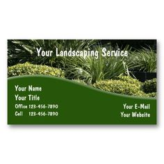 Professional lawn care landscaping business card landscaping landscaping business cards colourmoves