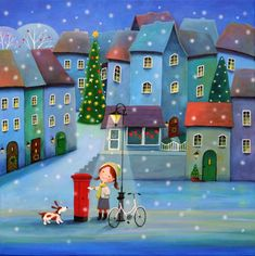 View Iwona Lifsches's Artwork on Saatchi Art. Find art for sale at great prices from artists including Paintings, Photography, Sculpture, and Prints by Top Emerging Artists like Iwona Lifsches. Art And Illustration, Christmas Illustration, Illustrations, Santa Paintings, Original Paintings, Portrait Paintings, Christmas Scenes, Christmas Art, Scrapbooking Image