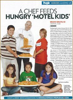 Bruno Serato from Anaheim White House feeding hungry motel kids.