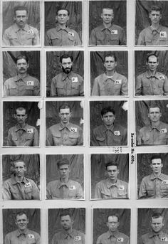 Individual pictures of 59 men (American?) at Tokyo Hitachi (Motoyama) POW Camp: Bataan Death March, Global Conflict, History Facts, History Photos, Prisoners Of War, Mans World, Second World, Historical Photos, World War Ii
