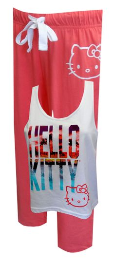 Hello Kitty Caribbean Sunset Pajamas Dreaming of those long lazy days on the beach? Pine no more...you can feel like you are th...