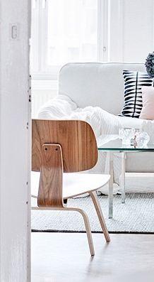 Via Trendenser | Eames Lounge Chair Wood | White