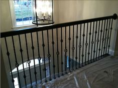Metal Banister Spindles | STAIRCASES  BALUSTRADES: Wrought Iron Railing