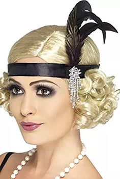 Gatsby Glam-Makeup, Hair, and Feather Headband.