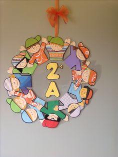 Classroom door wreath Ghirlanda per la porta dell'aula