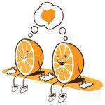 Te encontre mi media naranja