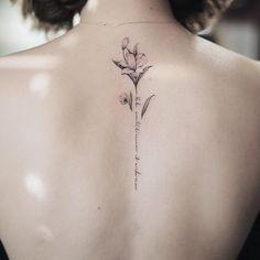 """3,906 Likes, 53 Comments - Nando Tattoo (@nandotattooer) on Instagram: """"Flower&letter . .…"""""""