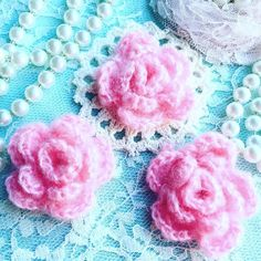 Crochet Flowers they are so adorable and soft and will be perfect to add to your #scrapbooklayout #handmadecards #handmadetags #hairpiece #shabbychic #shabbychicdecor #shabbychicbag #shabbychicframe Only at http://etsy.me/1RSxR8d #etsy #etsyusa #etsyfind #etsylove #etsymgmt #etsyshop #etsyseller #etsyfinds #etsystore #etsyelite #crochetflowers #pinkflowers #vintagelaceandroses by flairbyme