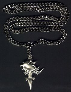 Final fantasy 8 squall griever necklace pure silver geekness squall necklace aloadofball Image collections