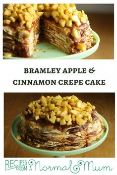 Layers of thin pancakes sandwiched together with cinnamon spiked apple sauce and cream cheese icing. Bramley Apple Recipes, Best Apple Recipes, Cinnamon Cake, Cinnamon Apples, Apple Crepes, Thin Pancakes, Crepe Cake, Apple Sauce, Crepe Recipes