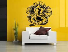 Wall Vinyl Sticker Decals Mural Room Design Pattern Ganesha Elephant Yoga Hindu bo465