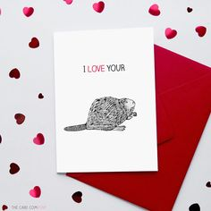 Funny Valentine's Card  | Rude Valentines Card | Beaver card