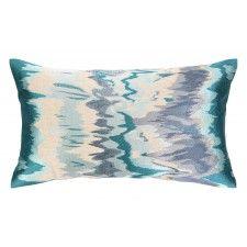DL Rhein Seismograph Pillow, Aqua