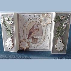 Kaartengalerij - Marianne Design Fancy Fold Cards, Folded Cards, Christmas Cards, Xmas, Shaped Cards, Die Cut Cards, Marianne Design, Graphic 45, Greeting Cards Handmade