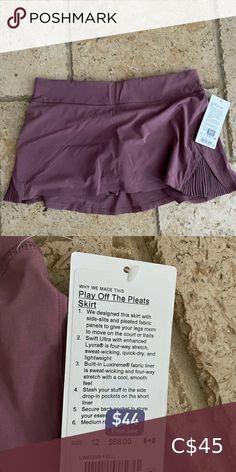 Lululemon Play Off The Pleats Skort New with tags Size 12 Dark Mauve lululemon athletica Skirts Pleated Fabric, Pleated Skirt, Skort, Mauve, Lululemon Athletica, Size 12, Play, Tags, Closet