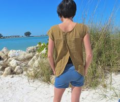 Organic Linen Petal Top by consciousclothing on Etsy