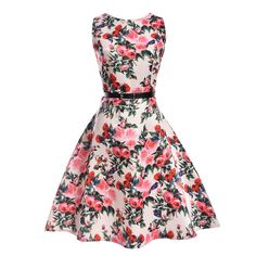 Foxmertor Women Summer Dress 2017 Plus Size Floral Swing Clothing Robe Retro Vintage Dresses Casual A-Line Party Vestidos Summer Dresses For Women, Dresses For Teens, Casual Dresses, Girls Dresses, Dress Summer, Spring Summer, Style Summer, Summer Kids, Party Summer