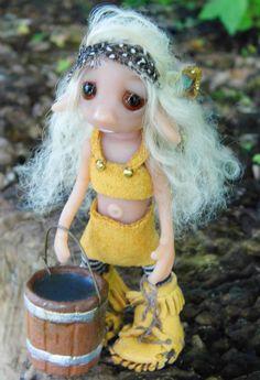 OOAK Handmade Polymer Clay Woodland Fairie by Woodlandkreatures