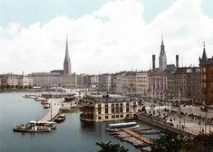#Hamburg Jungfernstieg 1890    © Wikipedia