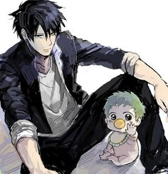 Art of my favorite father-son pair. Gave me too many laughs these two. T_T I miss you Oga and Berubo!! Beelzebub