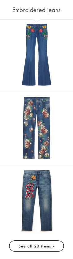 """""""Embroidered jeans"""" by styling-w-mabel ❤ liked on Polyvore featuring Jonathan Simkhai, Converse, Gucci, Bliss and Mischief, Juliska, Urban Decay, Prada, Mulberry, Karl Lagerfeld and Laura Cole"""