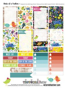 Birds of a Feather Planner Printable