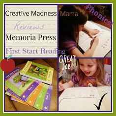 Creative Madness Mama reviews @Memoria Press First Start Reading with a preschooler and kindergarten. A keeper for our school!