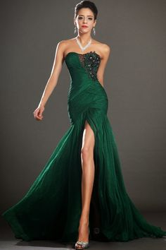 Cheap robe de soiree, Buy Quality evening dress 2016 directly from China mermaid evening dress Suppliers: Sexy Long Emerald Green Beaded Organza Split Mermaid Evening Dresses 2016 Plus Size Formal Prom Party Gowns robe de soiree Long Ball Dresses, Dark Green Prom Dresses, Prom Dresses 2016, Bridesmaid Dresses, Green Dress, Prom Gowns, Dress Long, Gowns 2017, Black Prom