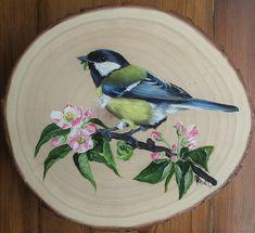 Pallet Painting, Tole Painting, Painting On Wood, Bird Artwork, Rock Painting Designs, Victorian Art, Vintage Birds, Pretty Birds, Acrylic Art