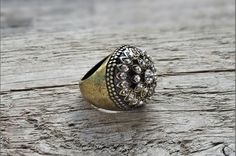 Rings – ON SALE Boho statement ring - rustic ring bohemian – a unique product by cityzencharms on DaWanda