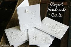 Elegant White on White Handmade Cards- quick, easy, and pretty darn classy looking! Perfect for Christmas cards!