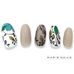 Flower Nail Art, Art Flowers, Japanese Nails, Fall Nail Art, Manicure And Pedicure, Pedicure Ideas, Fabulous Nails, Nail Inspo, Short Nails