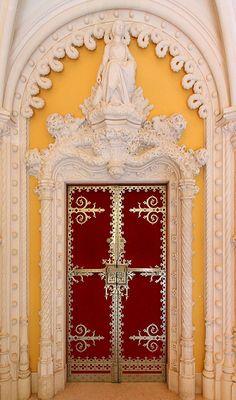Regaleira Palce, door detail Sintra - Portugal