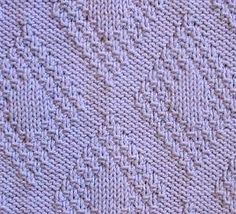 Moss Stitch Border Diamonds Knitting Pattern       At the bottom of the page there's a link to a huge index of knitting stitches