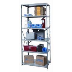 """Hallowell Hi-Tech Heavy-Duty Open Type 5 Shelf Shelving Unit Starter Size: 87"""" H x 48"""" W x 24"""" D"""