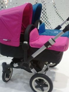 We loved all the berry and teal colors we saw at ABC Kids (like these Bugaboo strollers)