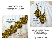 Jewelry MakingPDF Earring TutorialSuperDuo von mybeads4you auf Etsy