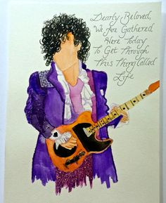 Prince Tribute Watercolor Painting