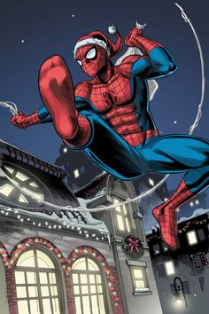 (Marvel Holiday Special) By: Reilly Brown. (From our house to your house, on a Christmas that will soon be for eternity) Å-Men. Amazing Spiderman, Spiderman Art, Hq Marvel, Marvel Memes, Marvel Dc Comics, Christmas Comics, Christmas Spider, Merry Christmas, Marvel Universe