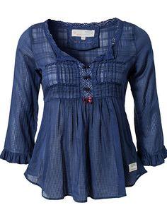 Peasant Blouse Odd Molly Blue   Lookingfeelinggood Blouse - Odd Molly - Blue - Blouses & Shirts ...