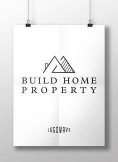 Home Real Estate Logo. Realtor Logo. Property Logo. Build Home Logo. Home Building Logo. Business Home Logo. House Rental Logo. Premade Logo by Logowave on Etsy