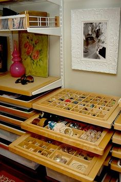 Wow storage! jewelry display --Pinned by WhatnotGems.Etsy.com