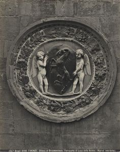 Brogi , Firenze. Chiesa di Orsanmichele. Terracotta di Luca della Robbia. - insieme